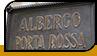 "Табличка ""Albergo Porta Rossa"""