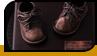 Бронзированная первая детская обувь