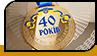"""Медаль """"40 лет"""""""