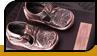 Бронзированные детские ботинки