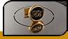 Круглые запонки с инициалами